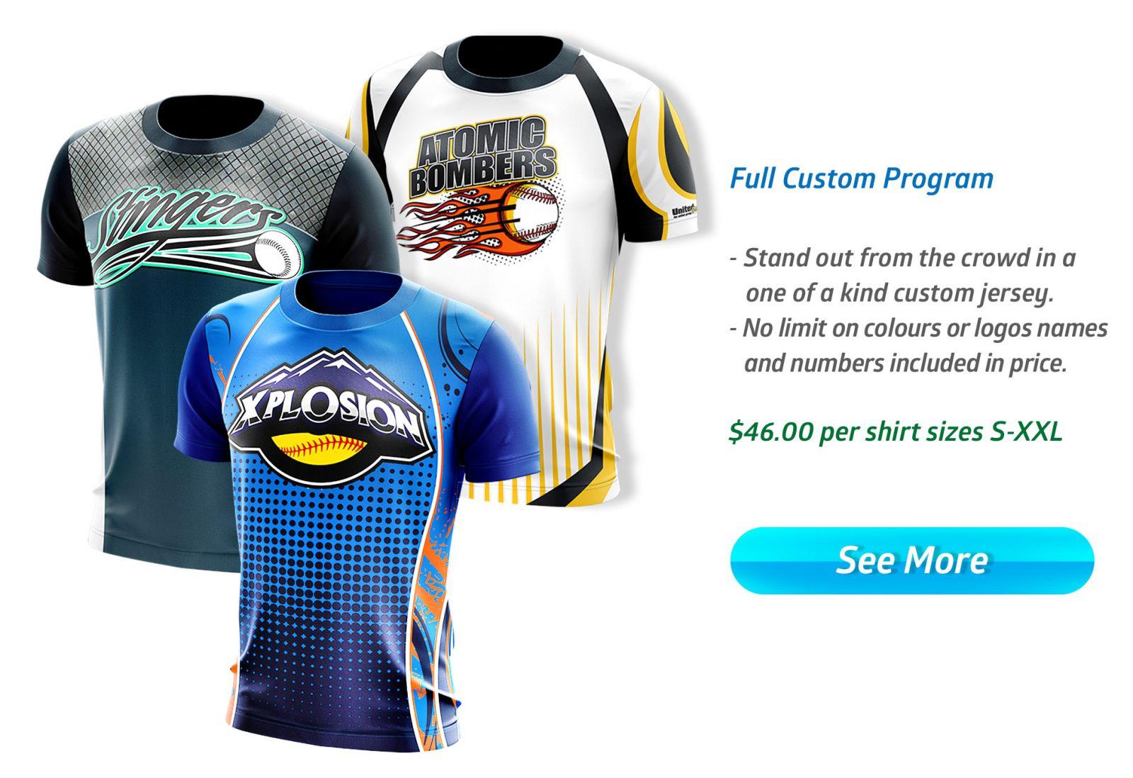 Slow Pitch Softball Jerseys Uniforms T Shirts Mee Sports